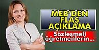 MEBden sözleşmeli öğretmen açıklaması