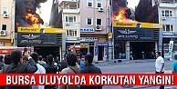 Bursada lastikçide büyük yangın