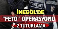 İnegöl#39;de FETÖ operasyonu: 2 tutuklama