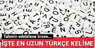 Türkçe#39;nin en uzun kelimesi açıklandı!