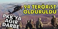 1 haftada 94 PKK'lı öldürüldü