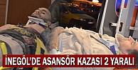 İnegöl#039;de Asansör Kazası: 2 Yaralı