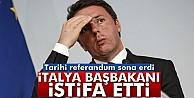 İtalya'daki referandum sona erdi! Başbakan Renzi istifa etti