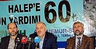 Mermur-Sen'den Halep için 81 vilayette yardım kampanyası
