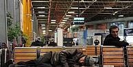 Otobüs terminali evsizlerin yuvası oldu...