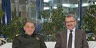 Tuğgeneral Hacıoğlu'ndan Başkan Özkan'a ziyaret