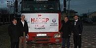 Yenişehir'den Halep'e yardım TIR'ı