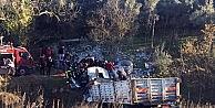 Beton yüklü kamyon şarampole uçtu: 1 ölü