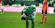 Bursaspor, 360 dakikada 5 isabetli şut çekti