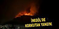 İnegöl#039;de Korkutan Yangın