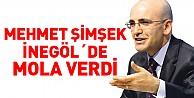 Mehmet Şimşek İnegöl#39;de Mola Verdi