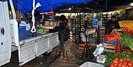 Mudanya'da pazar yeri dereye döndü