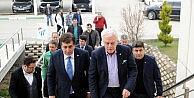 Vali, Belediye Başkanı ve Emniyet Müdüründen Bursaspora ziyaret