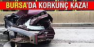 Bursada inanılmaz kaza...Bu araçtan sağ çıktı