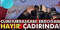 Cumhurbaşkanı Erdoğan'dan 'Hayır' çadırına ziyaret