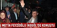 Metin Feyzioğlu İnegöl#039;de konuştu