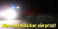 Nisan ayında kar yağışı