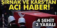 Şırnak ve Kars'ta patlama! 4 şehit, 3 yaralı
