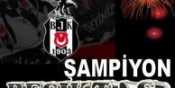 Beşiktaş taraftarı şampiyonluğu kutluyor