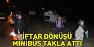 Minibüs Takla Attı: 8 Yaralı