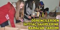 Öğrencilerden ihtiyaç sahiplerine ramazan yardımı