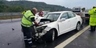 Oto yolda akıl almaz kaza: 1 ölü, 3 yaralı