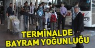 Terminalde bayram yoğunluğu