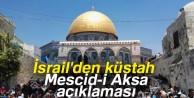 İsrail İç Güvelik Bakanı'ndan küstah Mescid-i Aksa açıklaması