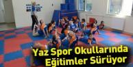 Yaz Spor Okullarında Eğitimler Sürüyor