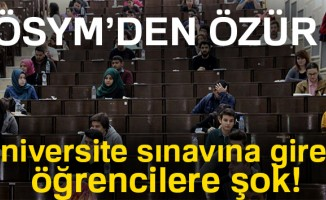 ÖSYM özür diledi! Üniversite sınavına giren öğrencilere şok!