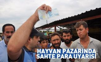 Polisten hayvan pazarında 'sahte para' uyarısı