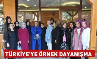 Türkiye'ye örnek dayanışma
