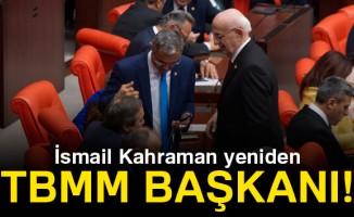 TBMM Başkanlığına yeniden İsmail Kahraman seçildi