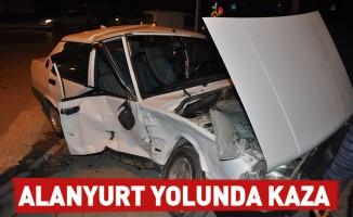 Alanyurt Yolunda Kaza : 2 yaralı
