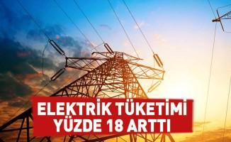 Elektrik tüketimi yüzde 18 arttı