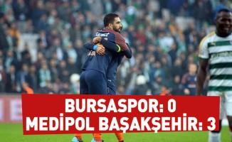 Bursaspor: 0 - Medipol Başakşehir: 3