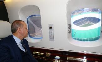 Cumhurbaşkanı Erdoğan, Bursaspor'un stadyumunu inceledi