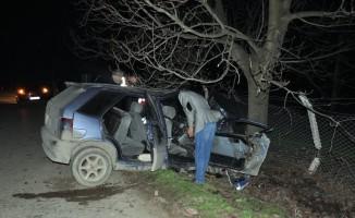 Bursa'da otomobil ağaca çarptı: 1 ölü, 1 yaralı