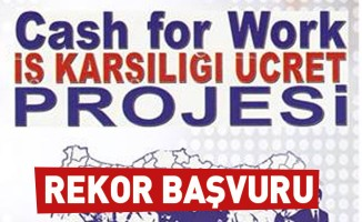 CASH FOR WORK'e Rekor Başvuru
