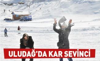 Uludağ'da kar sevinci