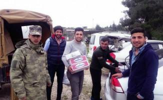 Büyükorhan'dan Mehmetçiğe gönderilen kuru gıdalar ulaştı