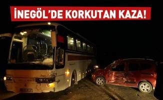 İnegöl'de korkutan kaza: 2 yaralı