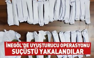 İnegöl'de uyuşturucu operasyonu: Suçüstü yakalandılar