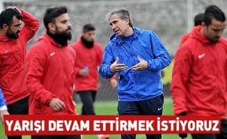 Murat Yoldaş:Yarışı devam ettirmek istiyoruz