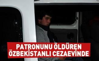 Patronunu öldüren Özbekistanlı cezaevinde