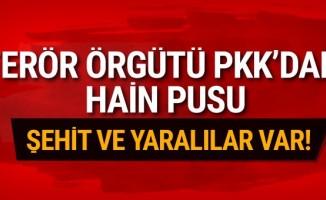 PKK'dan alçak pusu: Şehit ve yaralılar var