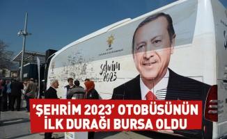 'Şehrim 2023' otobüsünün ilk durağı Bursa oldu