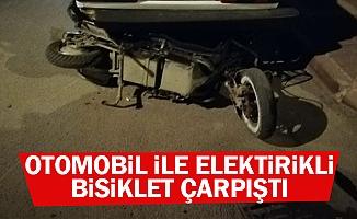Elektrikli Bisikletle Otomobil Çarpıştı