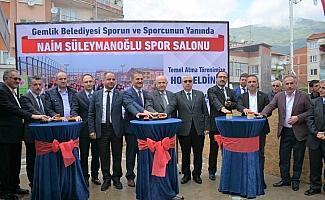 Naim Süleymanoğlu Spor Salonu'nun temeli atıldı