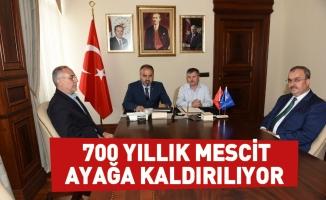 Bursa'da 700 yıllık mescit ayağa kaldırılıyor